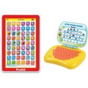 PraSid Combo Of Mini My Pad & Lovely English Learner (Yellow)