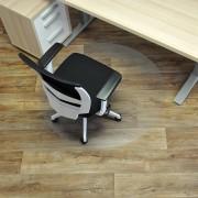 Čirá podložka pod židli na hladké povrchy 03 - délka 120 cm, šířka 120 cm a výška 0,15 cm