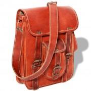 vidaXL Shoulder Bag Real Leather Brown for 7 inch Laptop