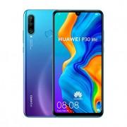 "Huawei P30 Lite (128GB, 4GB RAM) 6.15"" Display, AI Triple Camera, Dual SIM Global GSM Factory Unlocked MAR-LX3A - International Version, No Warranty (Peacock Blue)"