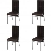 vidaXL Трапезни столове, 4 бр, кафяви