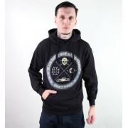 kapucnis pulóver férfi - Circle Skull - BLACK HEART - Circle Skull - Black