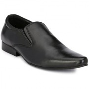 Delize Men's Black Slip on Smart Formals Formal Shoes