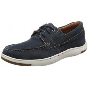 Clarks Men's Unmaslow Edge Blue Leather Casual Loafers & Moccasins - 10.5 UK/India (45 EU)