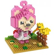 Little Treasures Loz diamond blocks peach princess Mario character I-block fun Mini Building Brick Set great educational toy 380pcs Brand new in original box