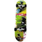 Black 8 Hole Skateboard Eighties SKB 31'' junior zwart