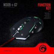 Scorpion MA-M309+G7 ratone USB 2400 dpi Negro Ratón (Mano Derecha, USB, 2400 dpi, Negro)