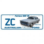 """Novelty Number Plate - Ford ZC Fairlane 500 V8 - Sm"""