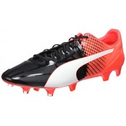 Puma Men's Evospeed 1.5 Fg Puma Black, Puma White and Red Blast Football Boots - 10 UK/India (44.5 EU)