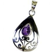Riyo Amethyst Silver Jewellery Online Holiday Pendants L 1.5in Spame-2047