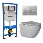 Douche Concurrent Geberit UP 320 Toiletset - Inbouw WC Hangtoilet Wandcloset - Shorty Flatline Sigma-20 Mat/Glans Chroom