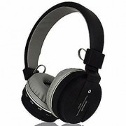 SH12 Bluetooth headphone with SD Card Slot/ with music and calling controls Headset with Mic - Black