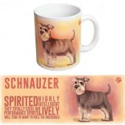 123 Kado koffiemokken Koffie beker Schnauzer hond