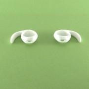 Airpods szilikon fülkampó, fehér, 1 pár/cs.