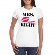 Bellatio Decorations Mrs. Always Right t-shirt wit dames