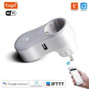Inteligentná WiFi Zásuvka Tuya Smart Life U10 s USB konektorom