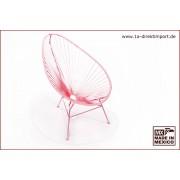 1a Direktimport Original Acapulco Chair - pink, Designer Sessel für Outdoor und Indoor