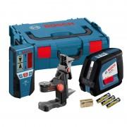 Nivela laser cu linii Bosch GLL 2-50 + BM 1 + LR 2, L-Boxx