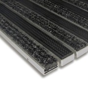 Hliníková textilní gumová čistící vnitřní vstupní rohož Alu Standard - 60 x 90 x 1,7 cm (80001240) FLOMAT