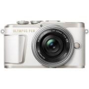 Aparat Foto Mirrorless Olympus PEN E-PL9 Pancake Zoom Kit + Obiectiv EZ-M1442EZ, 16.1 MP, Filmare Full HD (Alb)