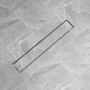 vidaXL 730x140 mm lineáris rozsdamentes acél zuhany lefolyó