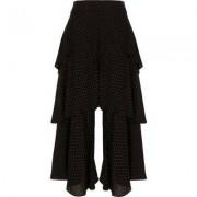 River Island Womens Black polka dot rara layer culottes