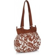 Home Heart Women White, Orange Shoulder Bag