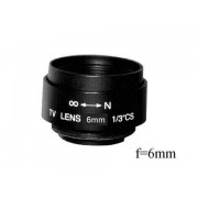Anykam Objektiv C6, Fixfocal, f=6mm, F1.6, fix iris, CS-mount für überwachungskamera