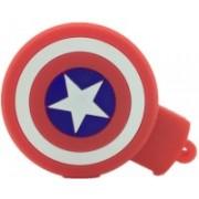 Microware Captain America Star Shape 16 GB Pen Drive(Red, White, Multicolor)