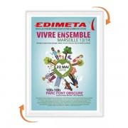 Edimeta Cadre Clic-Clac B2 70 x 50 cm BLANC