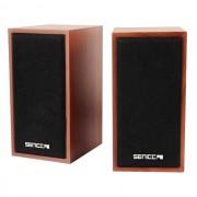Boxe stereo Somic Senicc SN-465 alimentare USB 3W carcasa lemn maro
