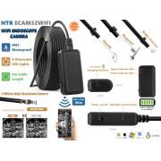 NTR ECAM32WIFI Vízálló endoszkóp kamera 5MP 5,5mm átmérő 6LED 30m WiFi + 5m kábel