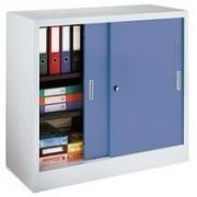 Kast met schuifdeuren 105 x 120 grijs-blauw