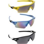Zyaden Sports, Sports, Sports Sunglasses(Multicolor, Multicolor, Multicolor)