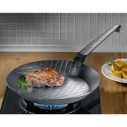 GSW Gäns Stahlwaren Gastro Traditionell geschmiedete Eisenpfanne, 24 cm