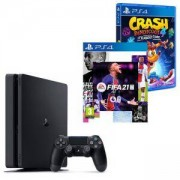 Конзола PlayStation 4 Slim 500GB Black, Sony PS4+Игра Activision Crash Bandicoot 4: It`s About Time PS4+Electronic Arts Игра Fifa 21 PS4