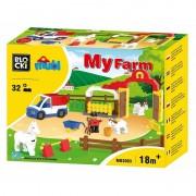 Joc constructie Blocki mubi, Ferma+cai, 32 piese