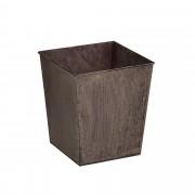 Декоративна кашпа за интериорна и екстериорна употреба [casa.pro]®, Метал, Тъмнокафява
