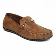 Verdioz mens buckle loafer Loafers For Men(Tan)