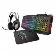 Krom Kritic Kit Gaming RGB Teclado + Auriculares + Ratón + Alfombrilla