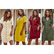 Hebei Huixiang Dianqizhizao Co.,Ltd / t/a Flashing Pineapple £18 instead of £49.99 (from Flashing Pineapple) for a ladies' summer midi dress - choose from four colours and sizes and save 64%