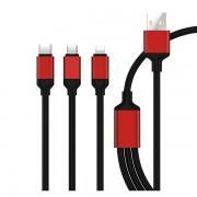 MAXMOBILE ZVUČNI ADAPTER 3U1 KABEL Micro USB/Type C/Lightning 1,2m (za punjenje)