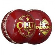 Protos Club Balls Genuine Leather Cricket Ball