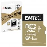 Cartão De Memória Emtec Elite Gold UHS-I U1 MicroSD - ECMSDM64GXC10GP - 64GB
