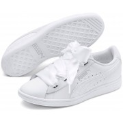 Puma Vikky Ribbon Satin Jr Sneaker, White 37