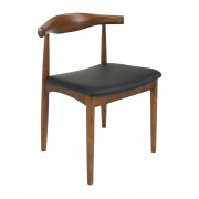 Replica Hans Wegner Elbow Chair - Light Walnut Timber, Various Cushion Options