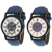 Laurex Analog Round Casual Wear Watches for Men Combo-LX-003-LX-010