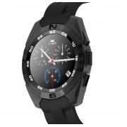 Smartwatch Bluetooth LKM Security con funzione cardiofrequenzimetro contapassi Colore Nero