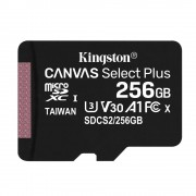 Kingston Canvas Select Plus Card MicroSD 256GB Class 10 A1
