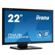 "Монитор Iiyama PROLITE T2253MTS-B1, 21.5"" (54.61 cm) TN сензорен панел, Full HD, 2ms, 12 000 000:1, 250 cd/m2, HDMI, DVI, VGA, USB"